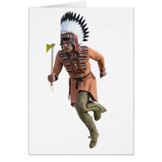 Funcionamiento del guerrero de Cheyenne principal Tarjeta De Felicitación