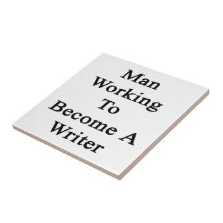 Funcionamiento del hombre a hacer un escritor teja cerámica
