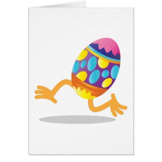 funcionamiento del huevo de Pascua Tarjeta De Felicitación