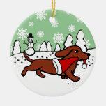 Funcionamiento del navidad del Dachshund Ornamento Para Reyes Magos