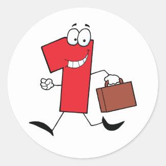 Funcionamiento del número uno del negocio con las pegatina redonda