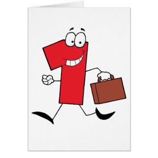 Funcionamiento del número uno del negocio con las  tarjeta de felicitación