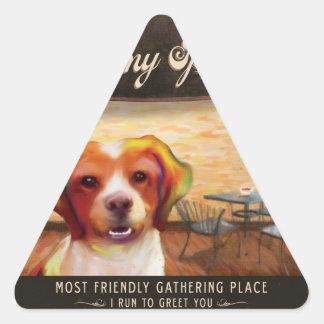 Funcionamiento del Poster-Yo del arte del perro Pegatina Triangular