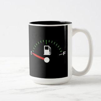 Funcionamiento en vacío taza de café de dos colores