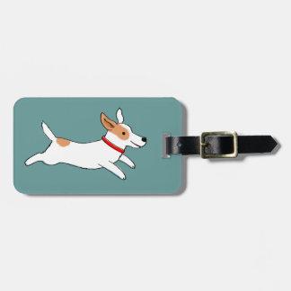 Funcionamiento feliz Jack Russell Terrier - perro Etiquetas Para Maletas