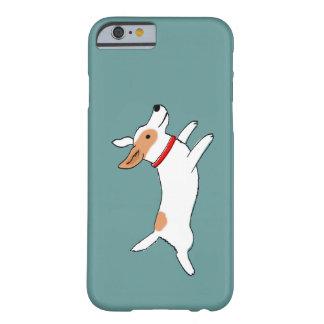 Funcionamiento feliz Jack Russell Terrier - perro Funda Para iPhone 6 Barely There