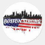 Funcionamiento fuerte de Boston Etiquetas Redondas