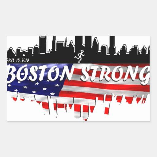 Funcionamiento fuerte de Boston Pegatina Rectangular