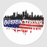 Funcionamiento fuerte de Boston Pegatina Redonda
