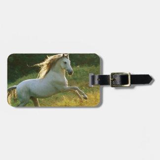 Funcionamiento hermoso del caballo etiqueta de maleta