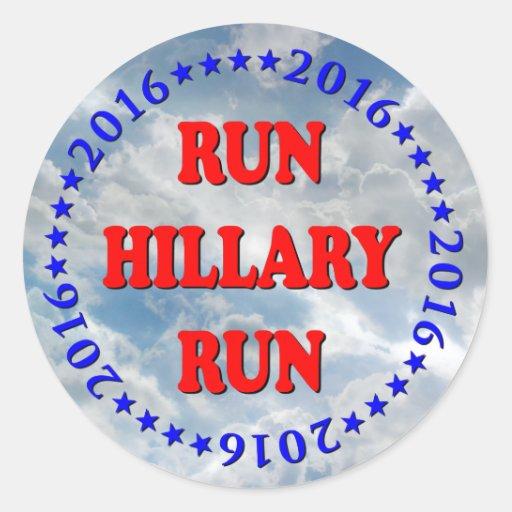 Funcionamiento Hillary - círculo - ninguna BG - Pegatina Redonda