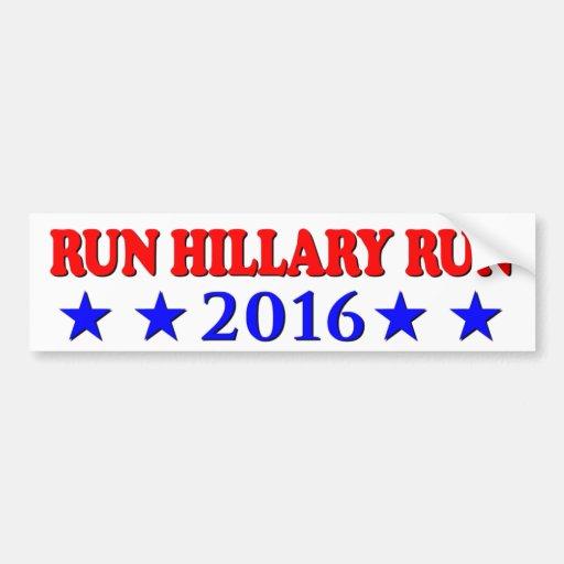 Funcionamiento Hillary - roja y azul - ninguna BG  Pegatina De Parachoque