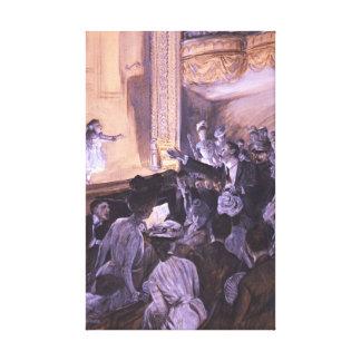 Funcionamiento interrumpido 1901 impresión de lienzo