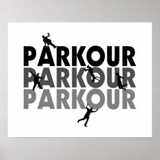 Funcionamiento libre de Parkour Poster