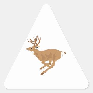 Funcionamiento masculino Blanco-Atado de los Pegatina Triangular