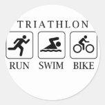 Funcionamiento, nadada y bici del Triathlon Pegatinas