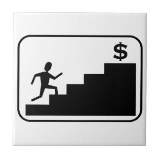 Funcionamiento para el dinero azulejo cuadrado pequeño
