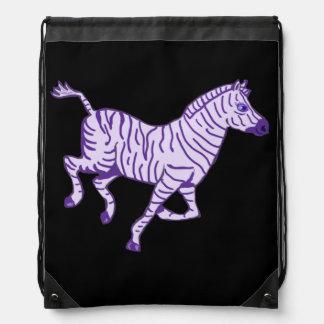 Funcionamiento púrpura de la cebra mochila
