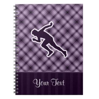 Funcionamiento púrpura cuadernos