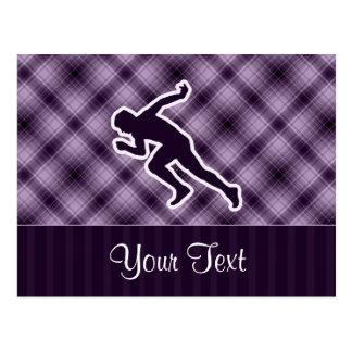 Funcionamiento púrpura tarjetas postales