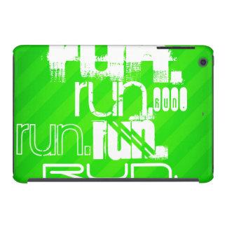 Funcionamiento; Rayas verdes de neón Funda De iPad Mini