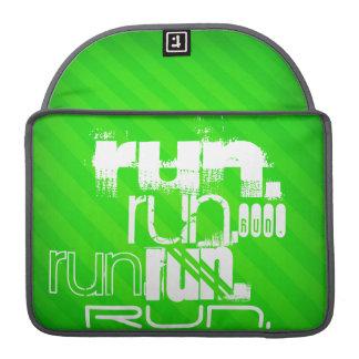Funcionamiento; Rayas verdes de neón Funda Macbook Pro