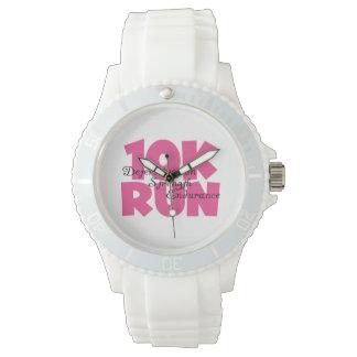 funcionamiento rosado corrido 10K de los deportes Reloj De Mano
