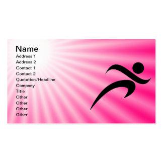 Funcionamiento rosado tarjetas de visita