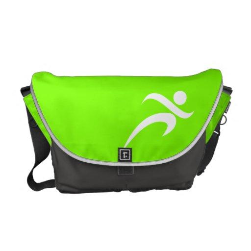 Funcionamiento verde chartreuse, de neón bolsa messenger