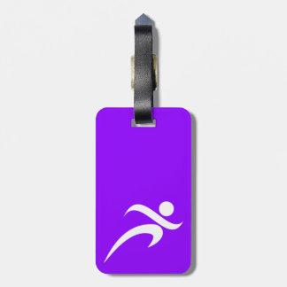 Funcionamiento violeta de la púrpura etiquetas maletas