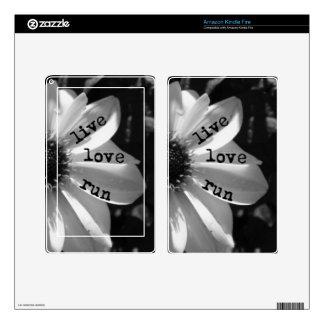 Funcionamiento vivo del amor por los diseños de Ve Skin Para Kindle Fire