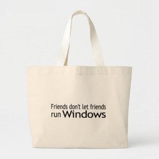 Funcionamiento Windows de los amigos Bolsa Tela Grande