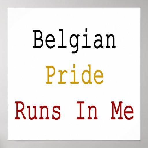Funcionamientos belgas del orgullo en mí impresiones