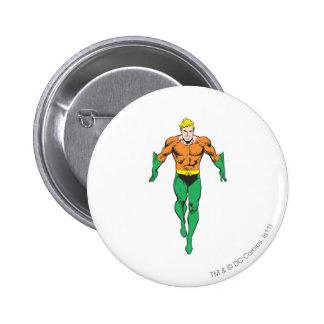 Funcionamientos de Aquaman Pin Redondo De 2 Pulgadas