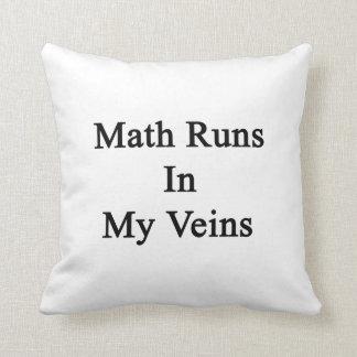 Funcionamientos de la matemáticas en mis venas almohadas