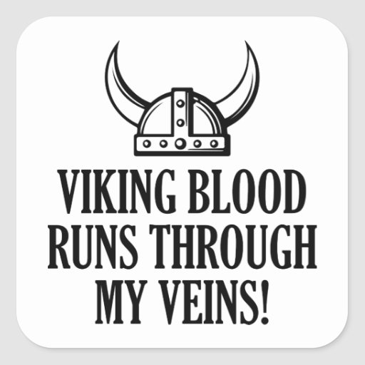 Funcionamientos de la sangre de Viking a través de Colcomanias Cuadradas