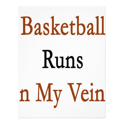 Funcionamientos del baloncesto en mis venas membrete personalizado