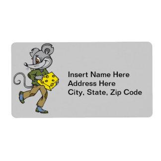 Funcionamientos del ratón con queso etiqueta de envío