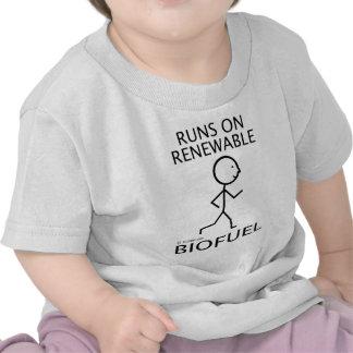 Funcionamientos en combustible biológico renovable camisetas