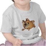 Funcionar con un perro del dibujo animado de la camiseta