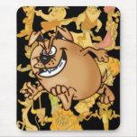 Funcionar con un perro del dibujo animado de la alfombrilla de ratón