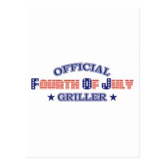 Funcionario 4to del Griller de julio Postal