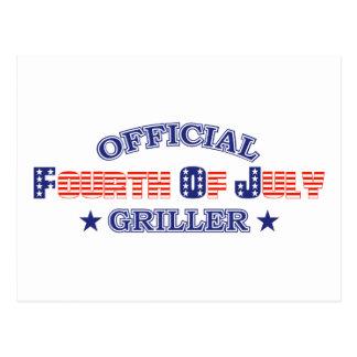 Funcionario 4to del Griller de julio Tarjeta Postal