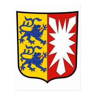 Funcionario Alemania de Schleswig-Holstein del esc Tarjeta Postal