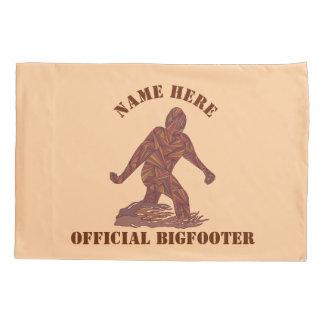 Funcionario Bigfooter de Bigfoot Sasquatch Yeti Funda De Cojín