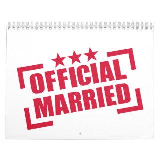 Funcionario casado calendarios