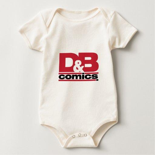 Funcionario D y ropa del logotipo de los tebeos de Body Para Bebé
