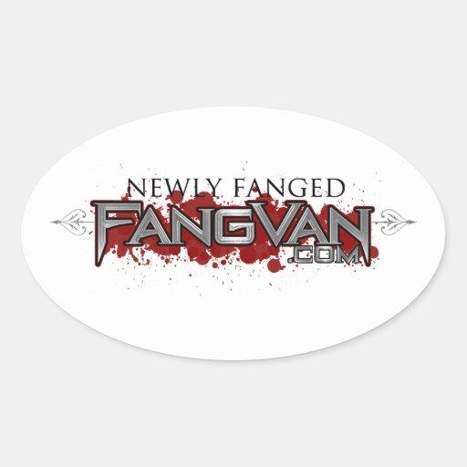 """Funcionario de FangVan """"nuevamente Fanged"""" Calcomanía Óval"""