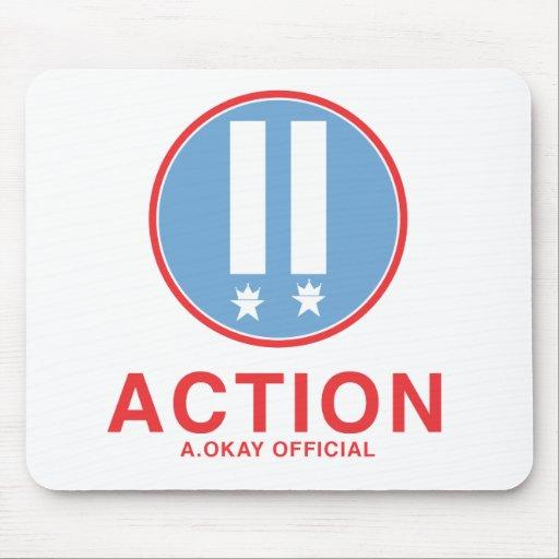 Funcionario de la acción A.Okay Tapete De Ratón