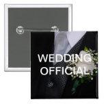 Funcionario del boda pin
